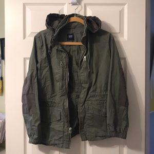 Gently used green Gap Jacket.